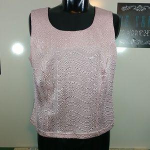 Dress Barn Textured Sleeveless Blouse 20W
